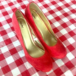 Mossimo Supply Co. Shoes - Mossimo red platform heels